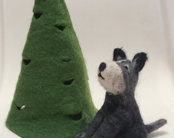 Dog,felt dog, felted dog, gift, needle felt dog, animals, feltpet