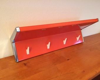 Vintage 70's Orange Brabantia towel rack / mid century / seventies / wall mounted / coat rack / kitchen decor