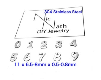 NUMBERS CHARM 304 Stainless Steel DIY Pendant Connector Charm Findings Hardware Craft Supplies Handmade Jewelry Lucky Do It Yourself Lettera