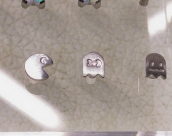 1.6mm/14g Implant Grade Titanium Pac-Man Ends w/Labret Post (can also fit in surface anchors) - Set of 3