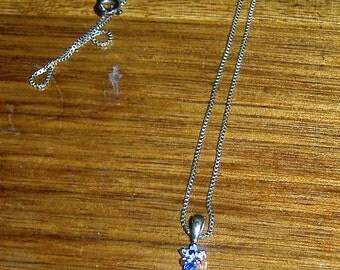 """925 Silver Cross Necklace 18"""" Chain"""