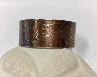 Greyhound Copper Cuff Bracelet