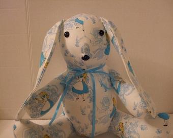 Alice In Wonderland, Easter Bunny, Disney Rabbit, Alice Rabbit, Wonderland Rabbit, Stuffed Rabbit, Easter Rabbit, Easter Toy, Free Shipping