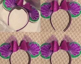 Ariel mouse ears! Little mermaid mouse ears! Minnie mouse ears! / disney ear