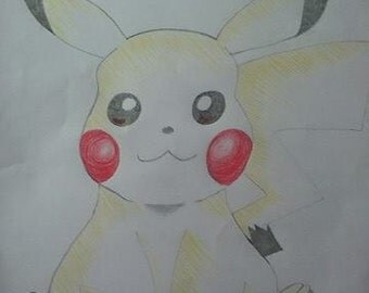 Pikachu Pencil Drawing