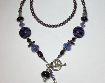 Purple Passion Necklace OOAK