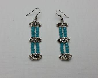 Aqua Link Earrings