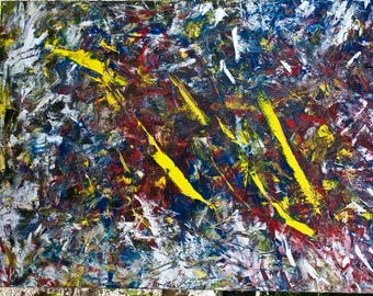 Abstract oil painting original 36 x 48 Free Shipping
