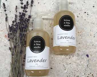 Lavender Handmade Hand & Body Wash 250ml
