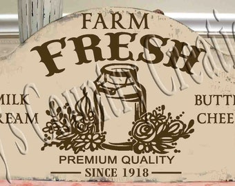 Farm Fresh Milk Can  SVG, PNG, JPEG