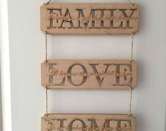 Wooden Inspirational Quotes