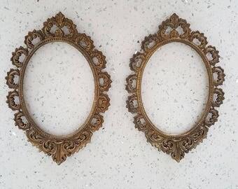 vintage picture frame vintage vintage frame ornate metal oval picture framesoval photo framebrass platedwall hanging