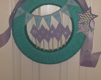 Custom Baby Shower Wreath