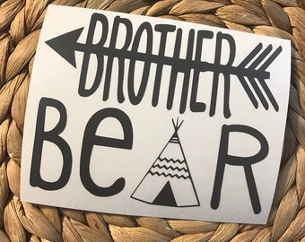 Brother Bear Vinyl Decal