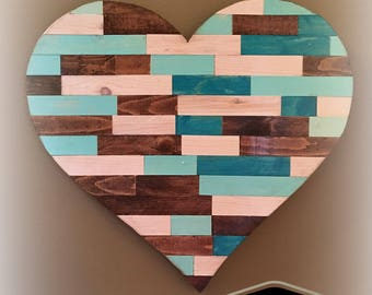 Wood Wall Heart