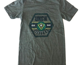 UNCW Seahawks Hexagon - T shirt - Deep Heather