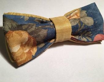 PAPILLON with floral motifs, bow tie men adjustable bowtie