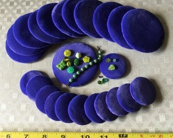 Handmade Purple Velvet Jewelry Display Pads, Two Sizes, Lavender, Used Secondhand, A Dozen Pieces