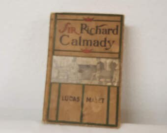 Antique 1901 Romance Novel Sir Richard Calmady, antique romance novel, collector book, old book, romantic book, love story,