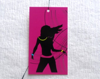 100 FASHION TAGS CLOTHING/Accessories Boutique Price Tags  Cute   Girl On Pink Retail Tags with  Plastic Loop Pins at Etsy