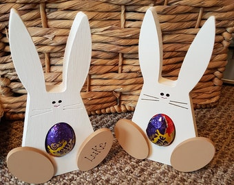 Handmade easter egg bunny Kinder or Creme Egg
