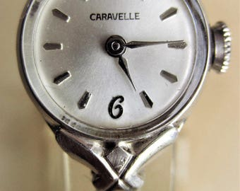 1973 Swiss Ladies SS Bulova Caravelle 17 Jewels Bracelet Watch