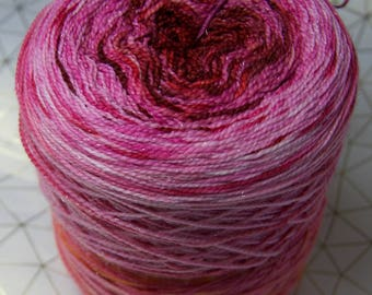 Song of Summer sparkle merino sock yarn.  Gradient Dyed