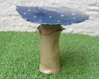 Handcrafted Stoneware Ceramic Medium Fantasy Fairy Toadstool