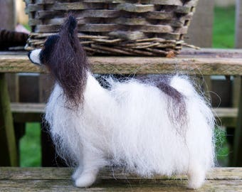 Papillon - Needle Felted, One Of A Kind, Hand Made