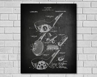 Golf Gifts for Women - Golf Club Patent Print - Golf Club Patent - Golf Art - Golf Club Art - Mattern golf club - Golf Decor- Golf SG654