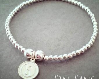 Sterling Silver Yin Yang Charm Bracelet
