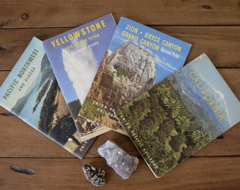 Vintage Union Pacific Railroad Travel Booklets . Pacific Northwest, California, Grand Canyon, Yellowstone Travel Books . Vintage Photography
