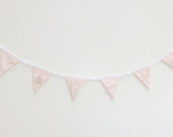 Pink Bunting (Birds, hearts and & bows) - 1.6m
