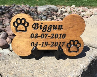 Dog Bone Shaped Pet Name Wood Sign   Pet Name Wood Sign   Carved Pet Name Sign   Bone Shaped Dog Sign   Custom Wood Sign