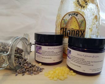 Honey and Lavender Lip Balm, Lip Balm, Herbal Remedies, Natural, Lavender, Honey, Herbal Lip Balm, Gifts for her