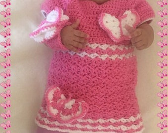 Baby girls complete outfit crochet