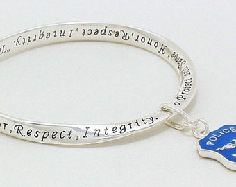 Police Blue Lives Matter Twist Bangle Bracelet
