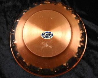 Vintage cooper bowl , made in Norway .