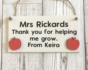 Teacher Gift ~ Teacher Plaque ~ Thank You Gift ~ Teacher Gift ~ Teacher Sign ~ Teacher Appreciation ~ Teacher Apple Gift ~ Wall Art