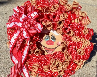 Gingerbread wreath, Gingerbread girl, Christmas wreath, Holiday wreath, Winter wreath, Candy wreath, Gingerbread girl wreath, Gingerbread