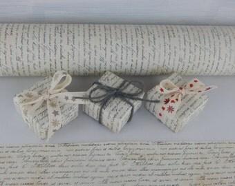 Set paper to gift box + Ribbon decorated-high quality paper-DIY packages-Set paper gift box + decorated ribbon