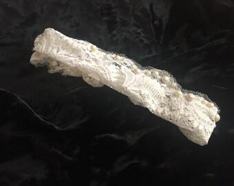 Lace Pearl Headband