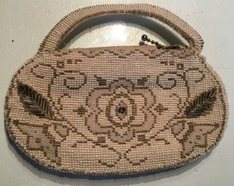 Vintage 1930s Beaded Evening Bag
