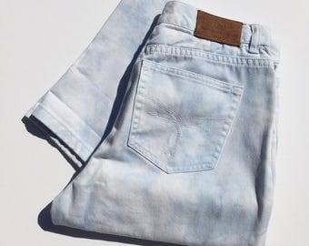 Ralph Lauren White Clouds Tapered High Waist Mom Jeans