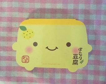 Q-Lia Hannari Tofu memo pad RARE