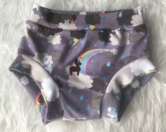 Unicorn and rainbow bloomer shorts, unicorn shorts, unicorn bloomers, baby shorts, toddler shorts, girls shorts