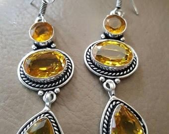 Honey Quartz Earrings!