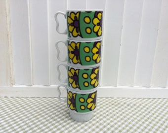 Flower Power Stacking Mugs