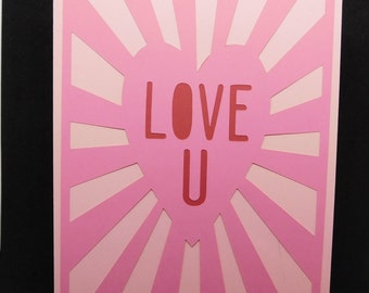Love you Valentine's Day card