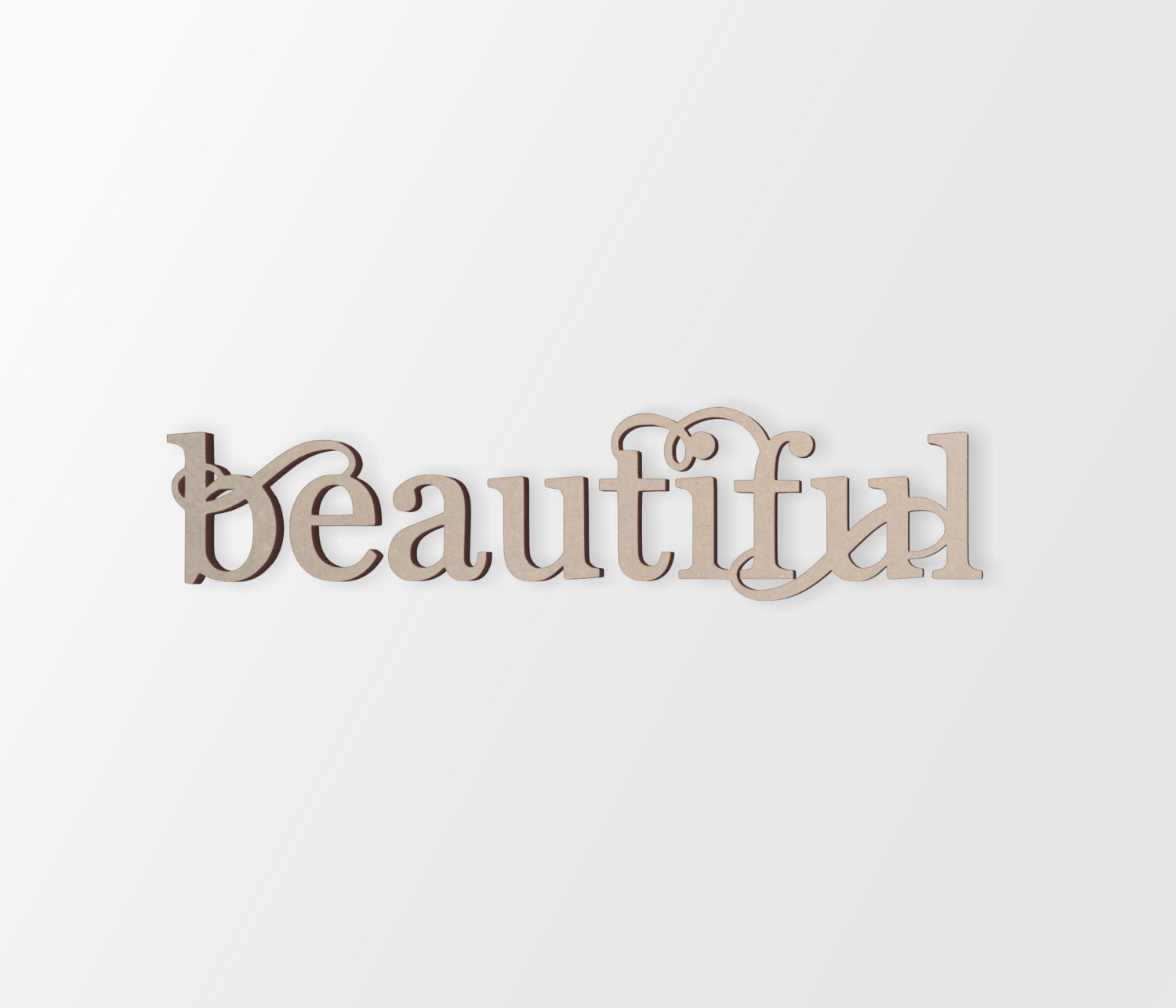 Word Art Home Decor: Wall Decor Word Art Beautiful Cutout Home